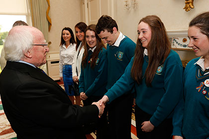 Young Social Innovators meet President Michael D. Higgins