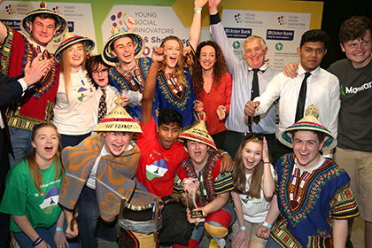 Students from Portmarnock Community School Young Social Innovators of the Year 2016