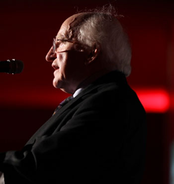 MICHAEL D HIGGINS, YSI PATRON, PRESIDENT OF IRELAND